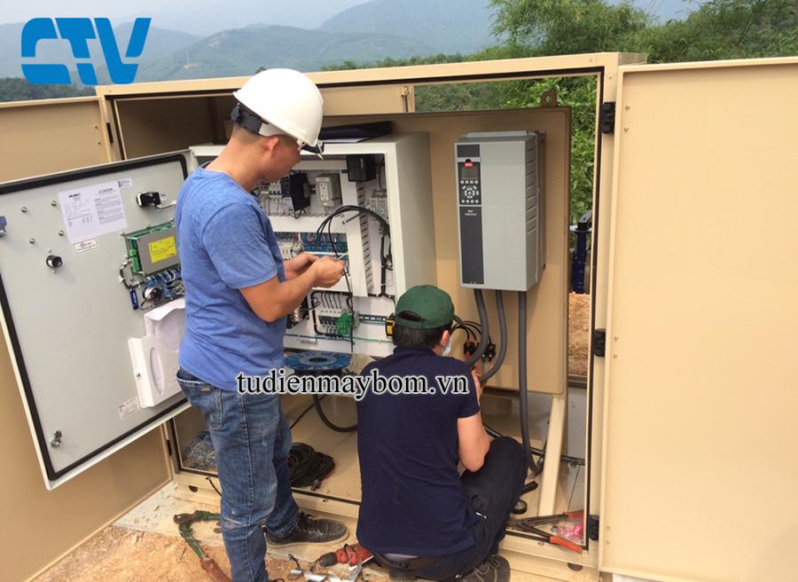 Thiết kế, lắp đặt biến tần vào hệ thống máy bơm nước