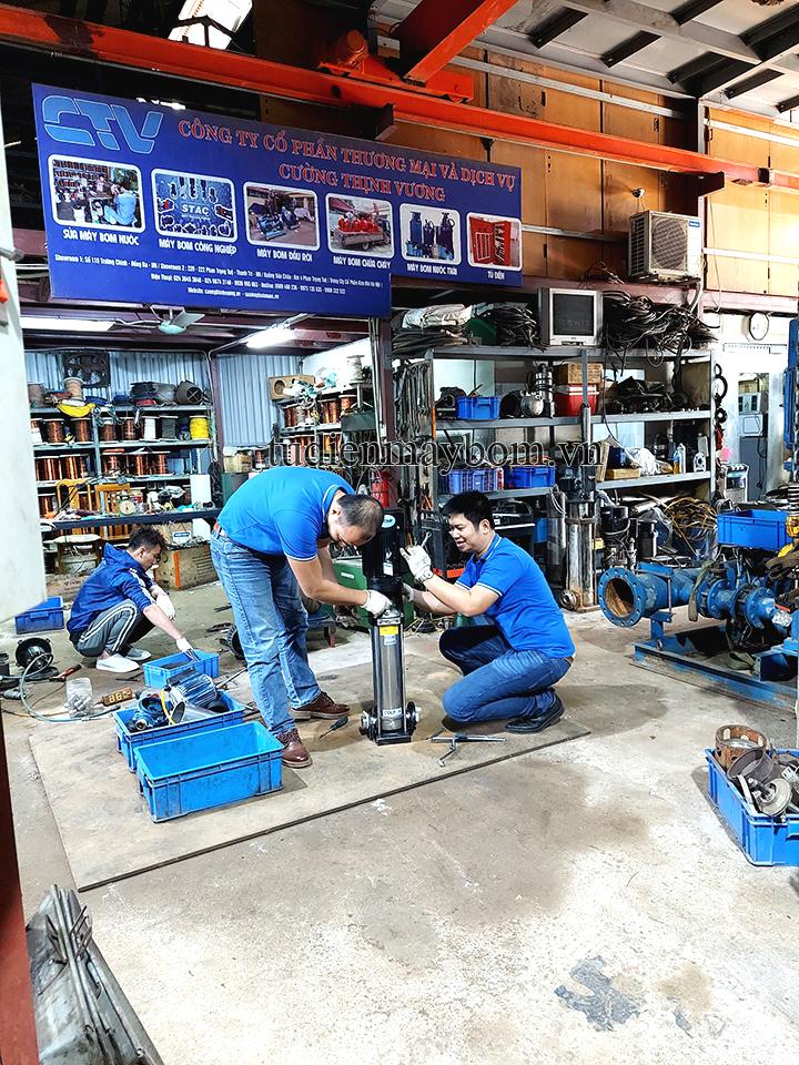 Sửa chữa máy bơm trục đứng uy tín, chuyên nghiệp